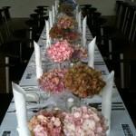 Hortensien-Tischschmuck